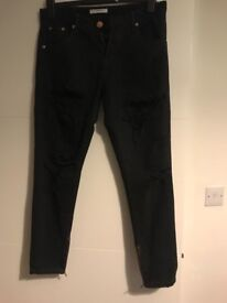 Glamorous black ripped jeans size 10