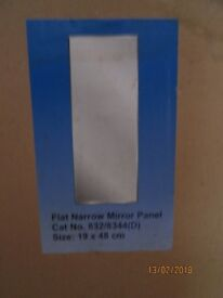 NARROW FLAT MIRROR PANEL BRAND NEW IN BOX BOUGHT FROM ARGOS