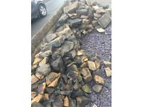 Dismantled dry stone wall