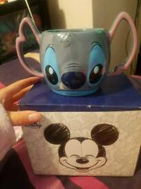 Disney stitch hot drink or food cup/bowl