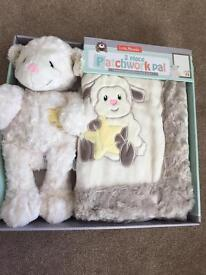 Patchwork pal blanket and toy NEW!!