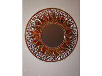 Fair Trade Sun Shaped Mosaic mirror 40cm diameter.