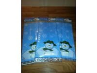 60 Snowman Food bags ideal for cakes, sweets etc with ties
