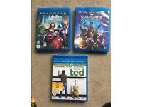 3 Blu-Rays: Guardians of the Galaxy, Avengers Assemble and Ted