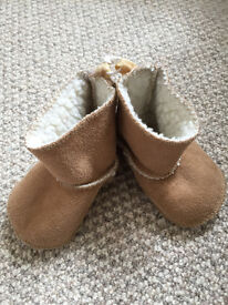 Baby Girl Designer Coat (Bonpoint) Upto 6 months and Baby Gap Ugg style Boots
