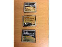 Memory cards Lexar,Sandisk, etc