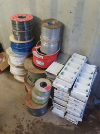 Electrical Materials, Cable, 6mm Twin &Earth, Lighting Cable, TV Coax, Fastfix Boxes, Fire Cable