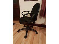 Black office chair on wheels