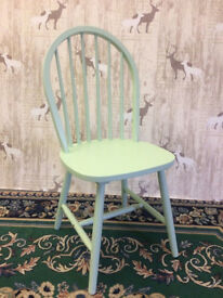 Daisy Wooden Dining Chair In Pale Green Ideal Upcycle Project