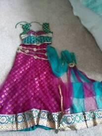 Girls Indian outfit. Chania choli
