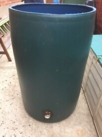 Large Blue Barrel (Used as Water Butt)