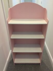 Girls pink And white solid bookcase/shelves/kids bedroom