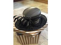 Beautiful Black & Silver agreed Hat - (NEW) - Hat Box Included