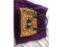 Ted baker leopard pony skin bag