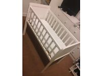 Mothercare Hyde Crib & Mattress For Sale