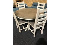 Shop display round table and four dining chairs