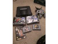 n64 Nintendo console and games