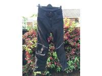 Small Hein Gericke motorcycle trousers size 10