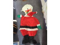 christmas decoration santa father christmas wind sock pole caravan camping Blaby/Whetsone