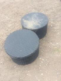 Wicker garden stools