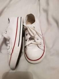 White Leather converse uk 9