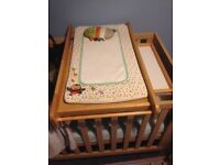 Barely used mothercare baby changer unit