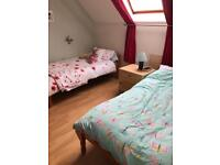 Solid pine single beds x 2