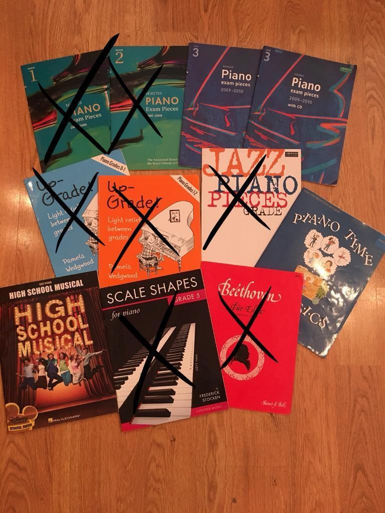 Selection of Piano Sheet Music Books