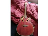 Tanglewood Odyssey Autumn Red Electro-Acoustic (Broken Neck, Selling for parts or to fix)