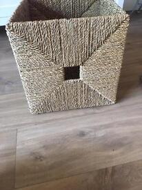 Ikea knipsa basket wicker seagrass storage boxes X 10