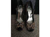 leopard print Dorothy Perkins heels