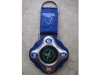 COMPASS KEYRING SOUVENIR WITH LOGO DUBAI INTERNATIONAL ARABIAN RACE DAY 30TH ANNIV. NEWBURY 2012