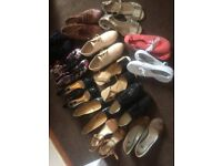 Assorted shoes. Size 5