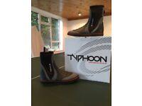 Black Typhoon sailing boots size 8