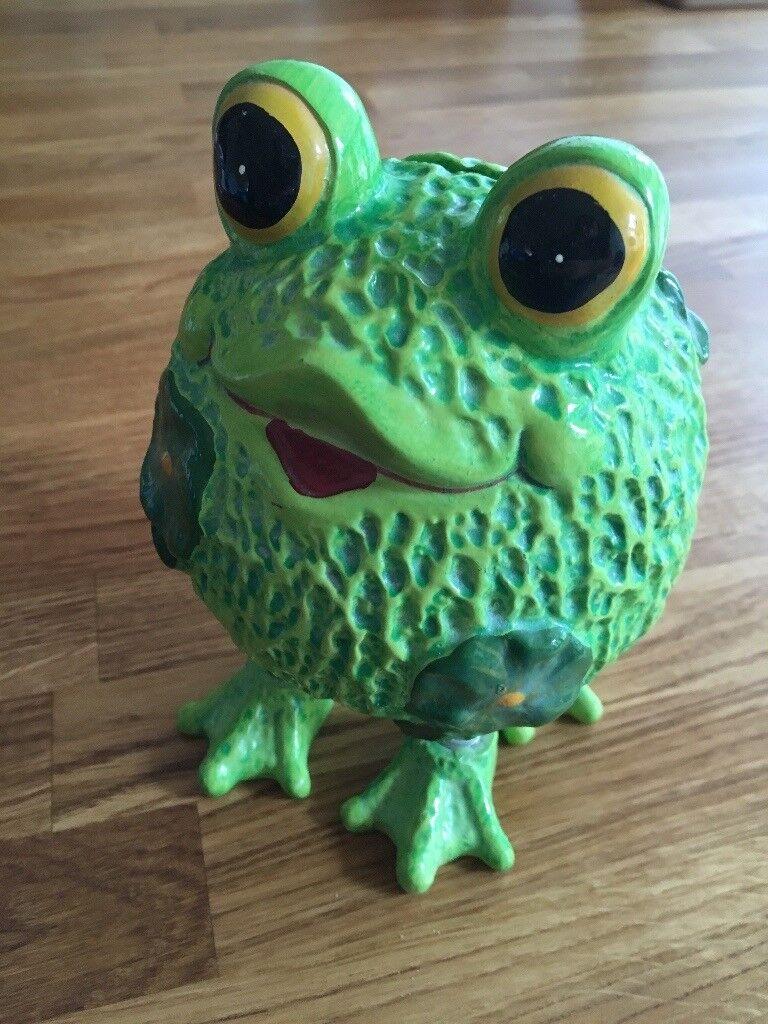 Novelty Money Box - Frog on springs