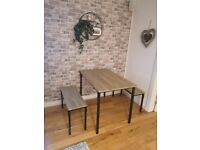 Bolitzo Oak Effect Dining Table and 2 Benches