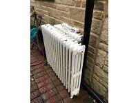 Cast iron radiators with feet - reclaim