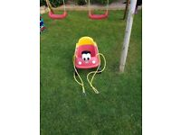 Little tykes car swing for young ones.