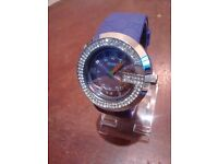 purple ladies gucci watch diamond style