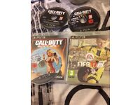 PS3 FIFA 17 GTA 5 Black ops 3 and other games 2 controllers