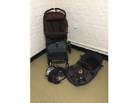 !Reduced! Bugaboo Cameleon 2 with Carrycot and rain cover brown