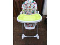Mamas and Papas Adjustable Height High Chair - £20