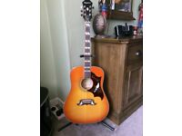 Epiphone Pro Guitar. As new, Perfect condition.Solid spruce top with violinburst finish