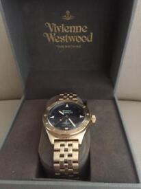 Men's Vivienne Westwood blue and gold quartz watch