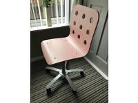 Ikea pink swivel chair