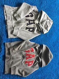 2 Gap zip up hoodies Age 4