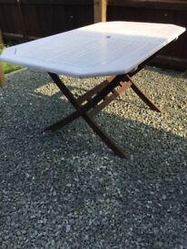 Solid garden table