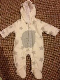 0-3 month unisex snow suit