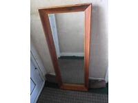 Vintage Solid Wooden Framed Mirror