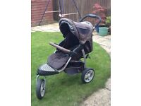 Three wheeler stroller from Mothercare.